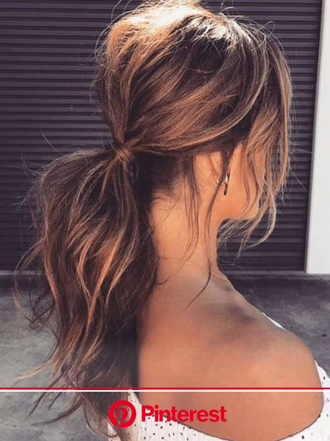30+ Ways to Style Brown Medium Hair: Stunning Medium Length Hairstyles | Medium length hair styles, Medium hair styles, Messy ponytail hairstyles