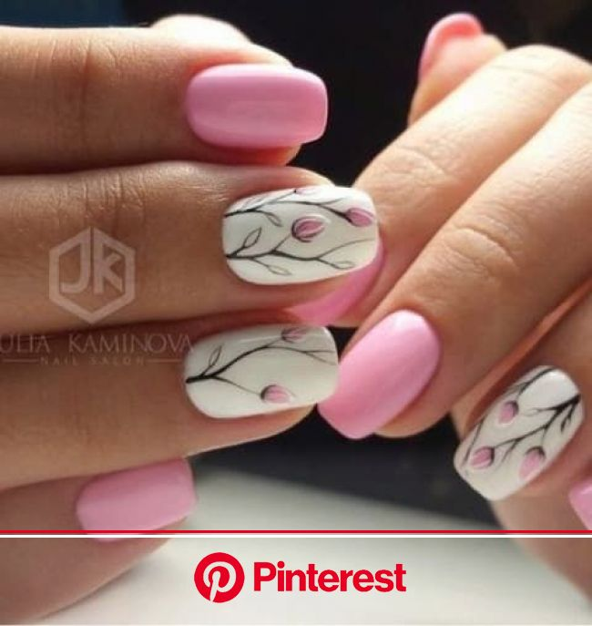 21 Fresh And Fabulous Nail Art Designs Just In Time For Spring | Tulip nails, Nails, Floral nails