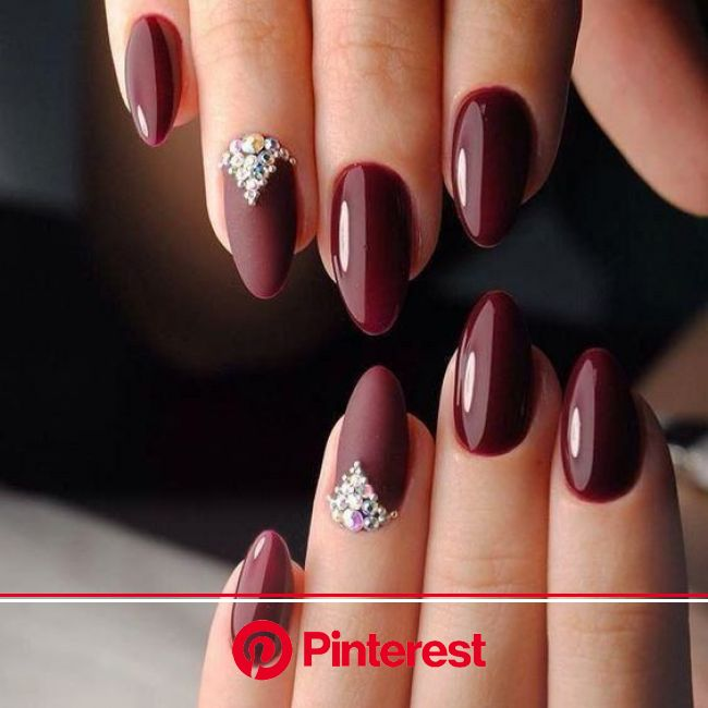 55+ Trendy Manicure Ideas In Fall Nail Colors | Elegant nails, Prom nails, Burgundy nails
