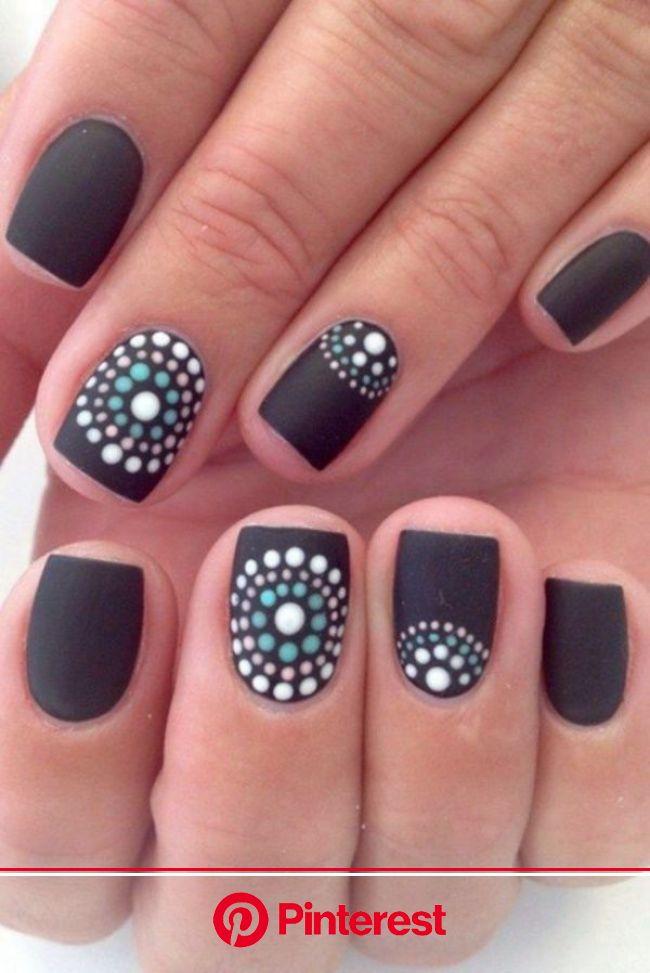 Black Nail Art Designs and Ideas (14) | Nail art diy, Simple nails, Diy nail designs