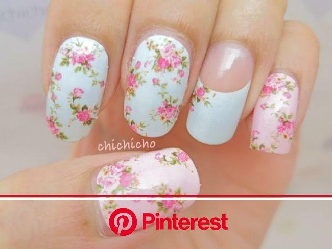 40 Breathtaking Rose nail designs | Floral nail designs, Rose nail design, Floral nails