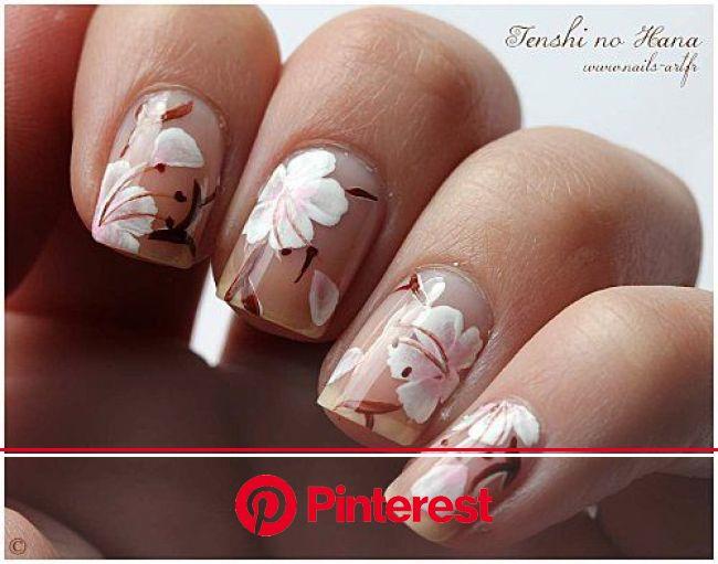 Nature Nails Nail Art by Tenshi no Hana | Nail art, Ongles motif floral, Ongles pour mariage