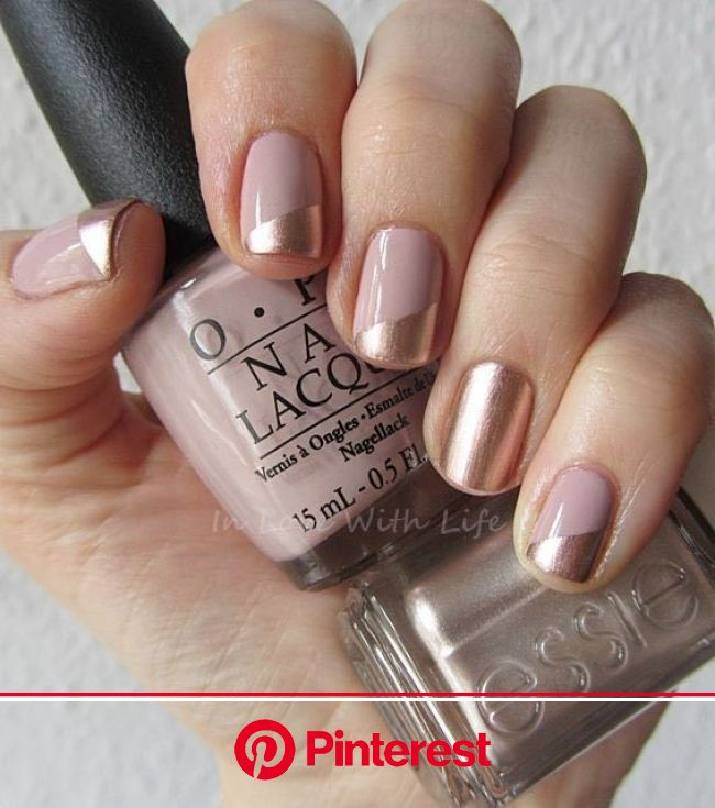 9 Nail Art Ideas That Make Short Nails Look AMAZING | Beige nails, Beige nails design, Metallic nails