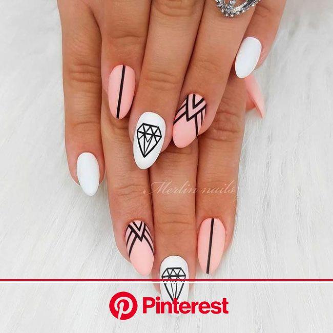 35+ Cool Summer Nail Designs | Naildesignsjournal.com | Almond acrylic nails, Short acrylic nails, Nail designs summer