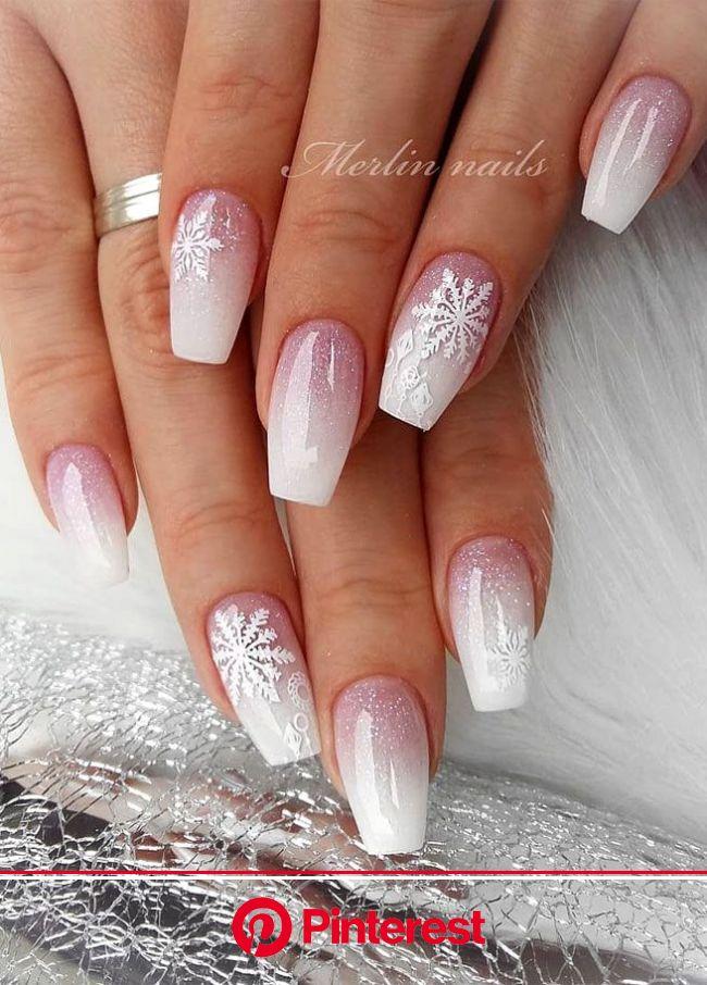 Christmas Nail Art Designs To Look Trendy This Season | Xmas nails, Winter nails acrylic, Pretty acrylic nails