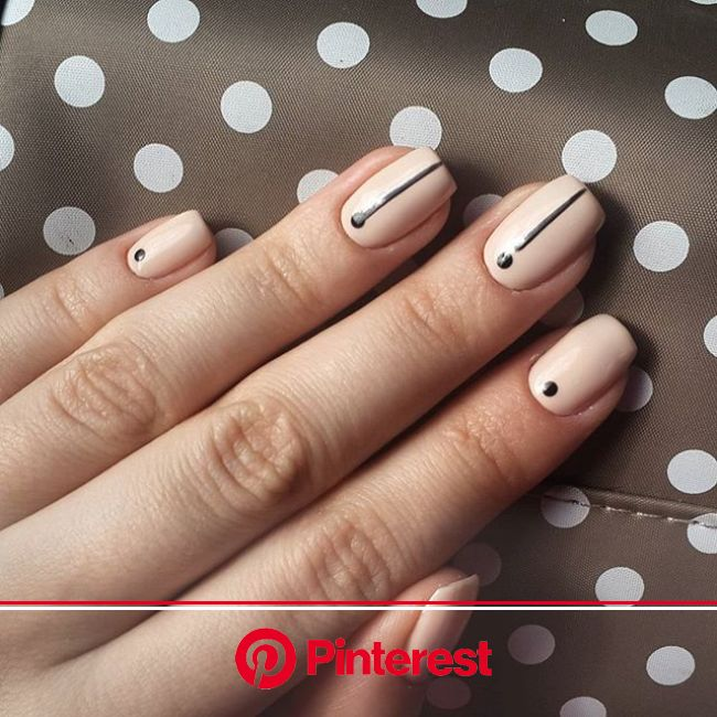 45 Minimalist Nail Art Ideas to Keep It Simple the Rest of Summer | Minimal nails art, Minimalist nail art, Minimal nails