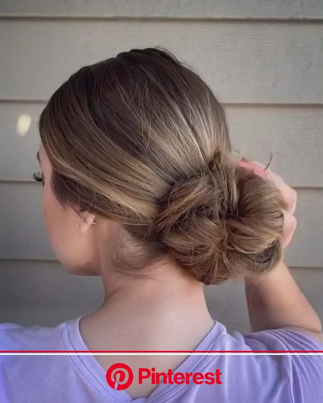 hair morenas | Easy bun hairstyles, Bun hairstyles for long hair, Hair styles