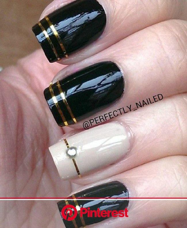 40 Black Nail Art Ideas   Trendy nails, White nail art, Nail polish