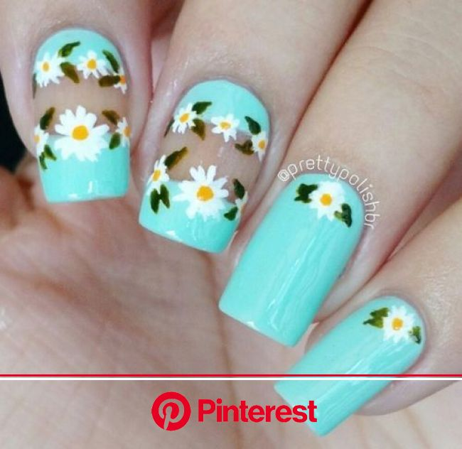 50+ Best & Cute Spring Nail Art Designs, Ideas, Trends & Stickers 2016 - Pepino Nail Art | Floral nail art, Simple spring nails, Cute spring n