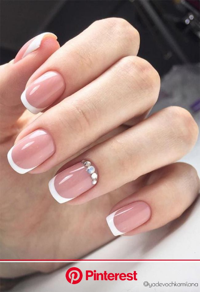 27 Fresh French Nail Designs: How to Do French Manicure at Home | French nail designs, French nails, Manicure
