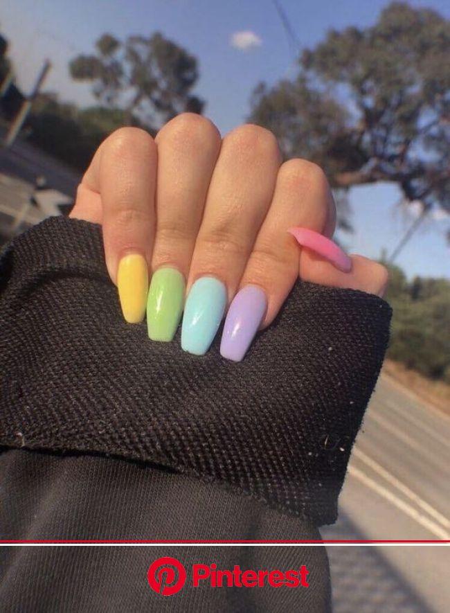 20+ Easter Acrylic Nails which supremely stylish and fashionable   Unhas coloridas, Unhas decoradas, Unhas multicoloridas