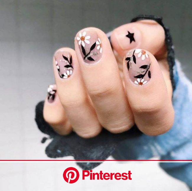 Photo in 2020 | Floral nails, Flower nails, Floral nail art