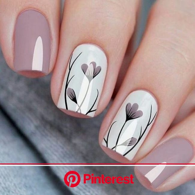 30+ Nails Designs Inspirations in 2020 | Luxury nails, Spring nail art, Floral nails