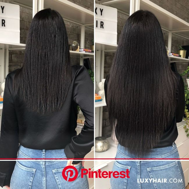 "20"" Seamless Jet Black Clip-Ins - 20"" (180g) in 2020 