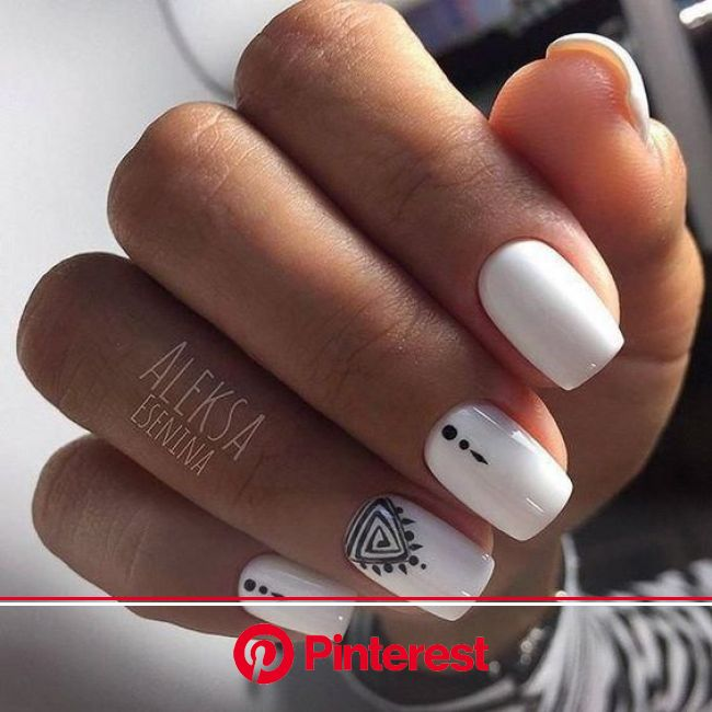 The Most Beautiful and Fascinating White Nail Designs: White Manicure Ideas | Square acrylic nails, White acrylic nails, Short acrylic nails