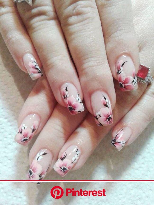 Nails | Cherry blossom nails art, Cherry blossom nails design, Cherry blossom nails