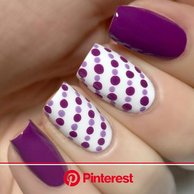 21 Nice Nails Designs with Cute Dots (With images) | Dots nails, Trendy nails, Simple nails