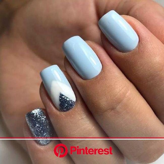 Increíbles diseños de uñas que puedes hacer con el tono baby blue | Manicura de uñas, Manicura, Manicura para uñas cortas