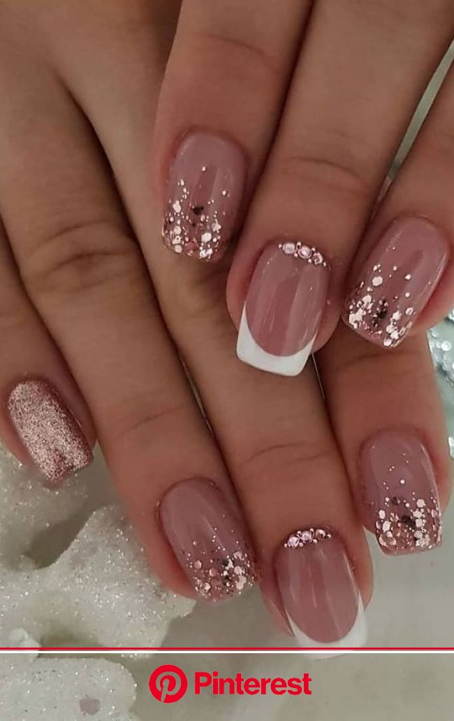Easy Spring Nails & Spring Nail Art Designs To Try In 2020: Simple spring nails colors for acrylic nails, … in 2020 | Nail designs glitter, Bright