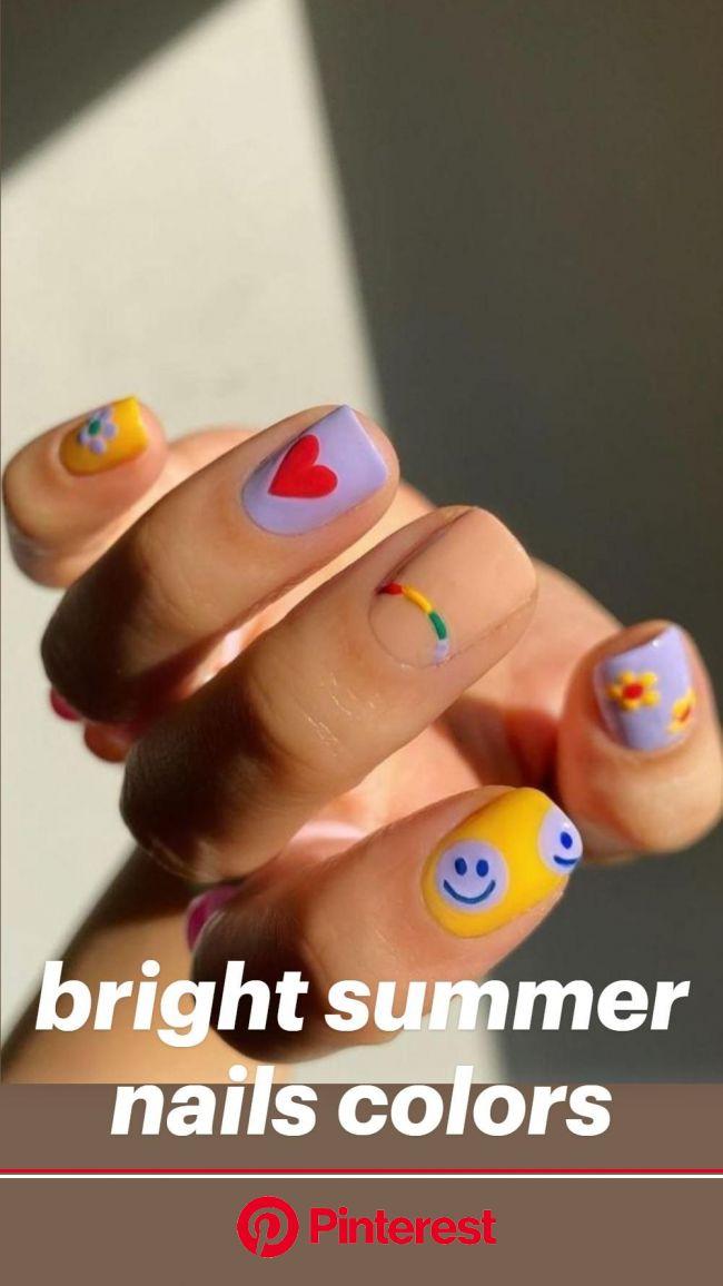 bright summer nails colors: An immersive guide by Hi Beauty Girl | nail, hair ,tattoo, makeup, wedding