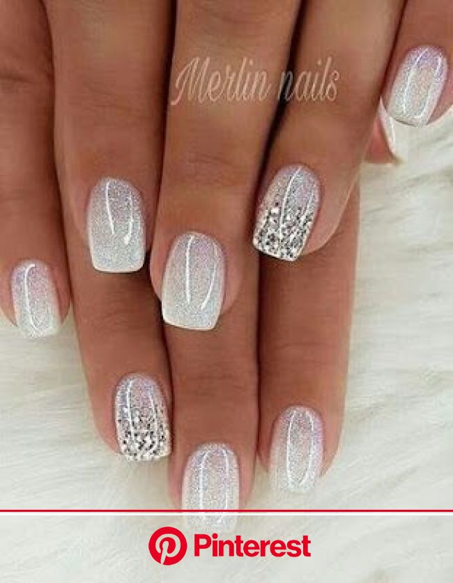 60 Perfect Gel Glitter Nail Designs To Upgrade Your Styles - Page 2 - Society Girls 25 in 2020 | Ombre nails glitter, Wedding nails glitter, Bridal na