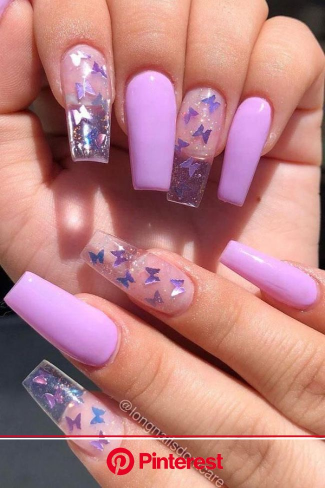 unexpected  - Chapter 7 in 2021 | Long acrylic nails coffin, Purple acrylic nails, Purple nails
