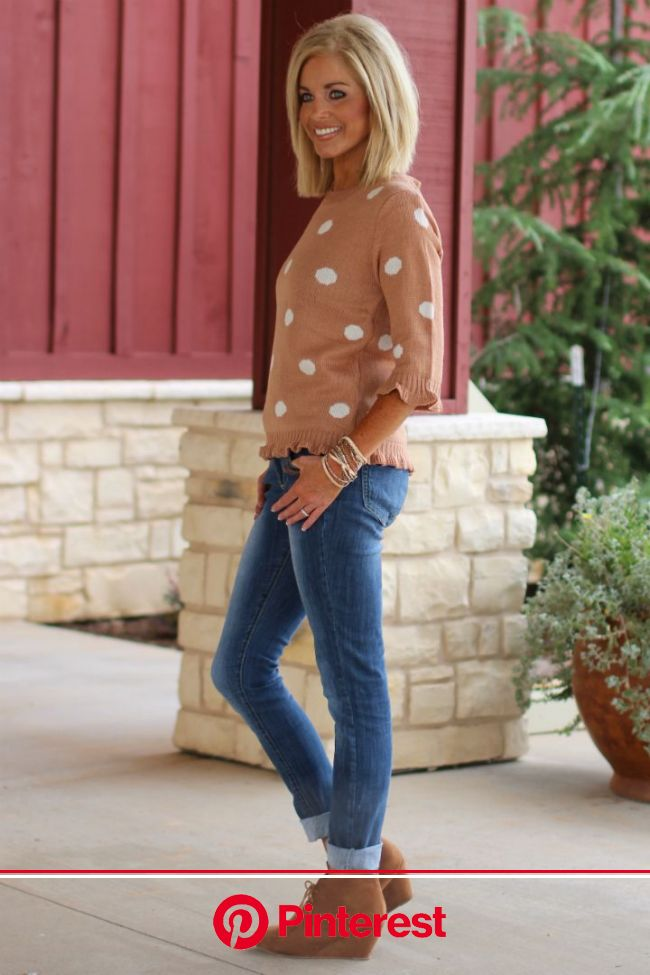 Have you ever seen anything more darling? We haven't either!   Our Fast & Fancy Polka Dot Sweater Wi… | Trendy boutique clothing, Blonde hair