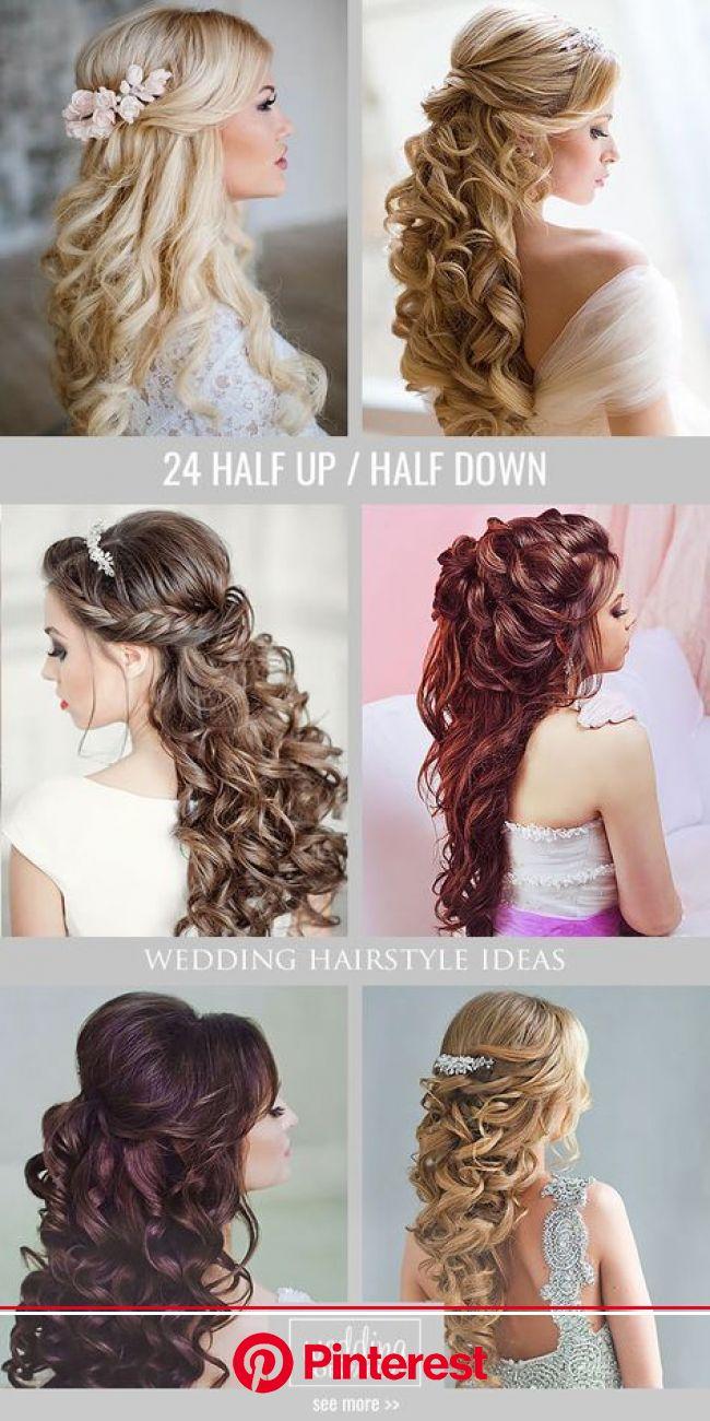 45 Perfect Half Up Half Down Wedding Hairstyles | Bride hairstyles, Hair styles, Down hairstyles