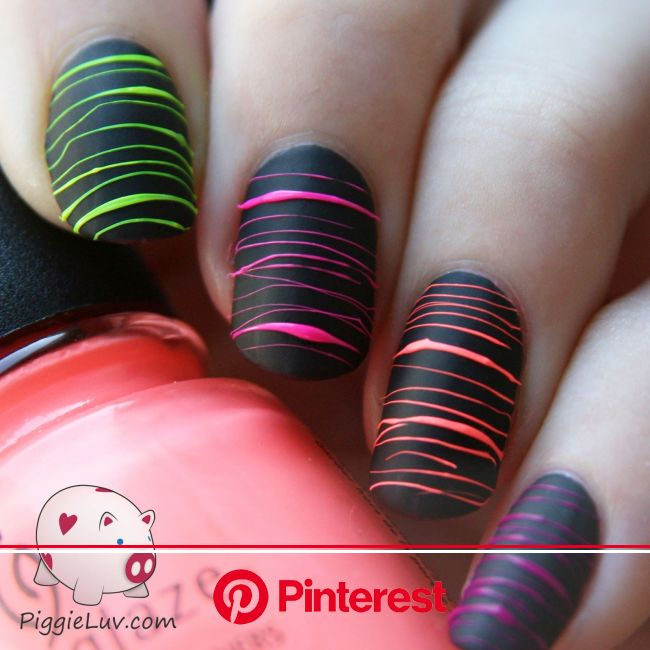 Guest post by Sarah from Tunay Na Mahal! | Neon nail art, Nail designs, Nail art designs