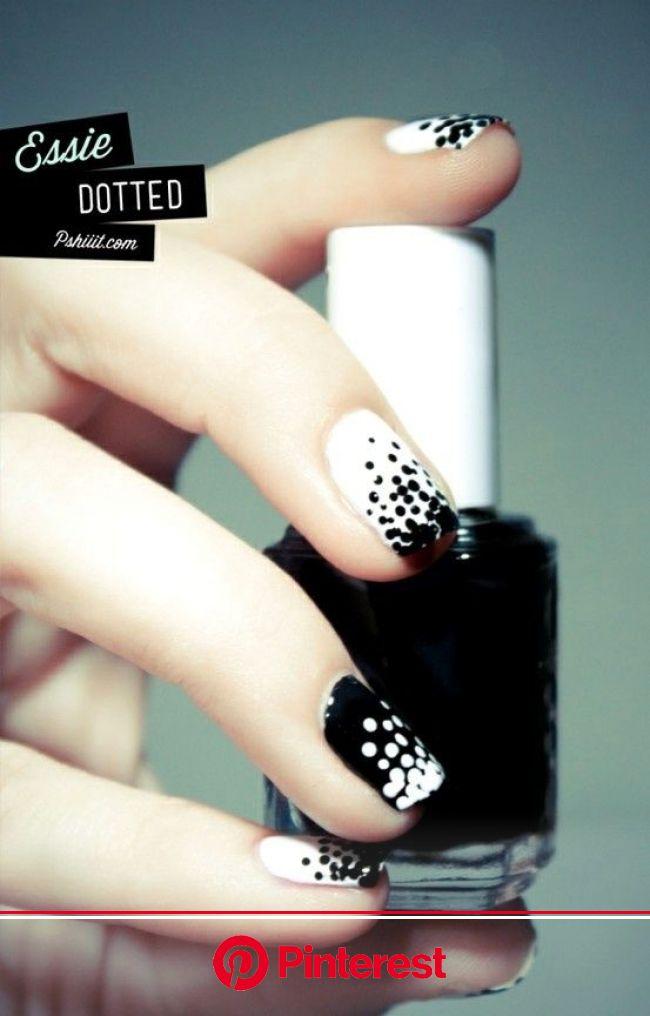 White Nail Designs by Essie Nail Polish - Pretty Designs | Dots nails, Trendy nails, Fashion nails