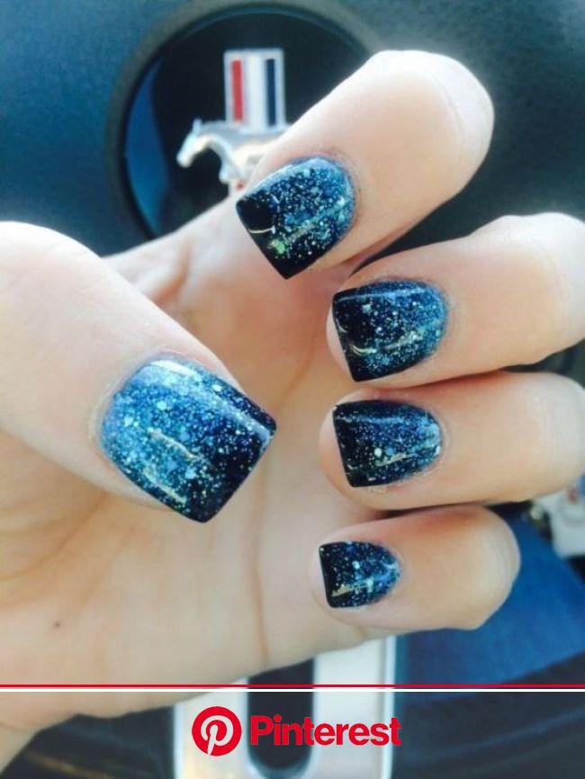 89+ Glitter Nail Art Designs for Shiny & Sparkly Nails | Pouted.com | Blue glitter nails, Glitter nail art, Nail designs glitter