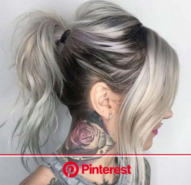31+ Marvelous Hair Color Trends for Women in 2020 | Long thin hair, Grey hair color silver, Silver hair color