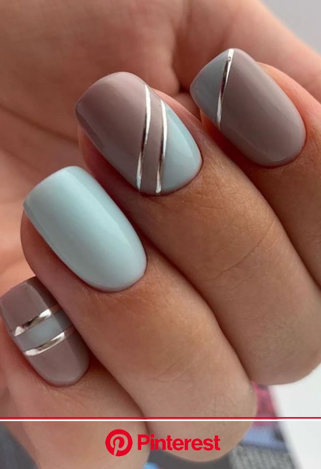 61 Beautiful Acrylic Short Square Nails Design For French Manicure Nails (With images) | Short square nails, Square nail designs, French manicure nail