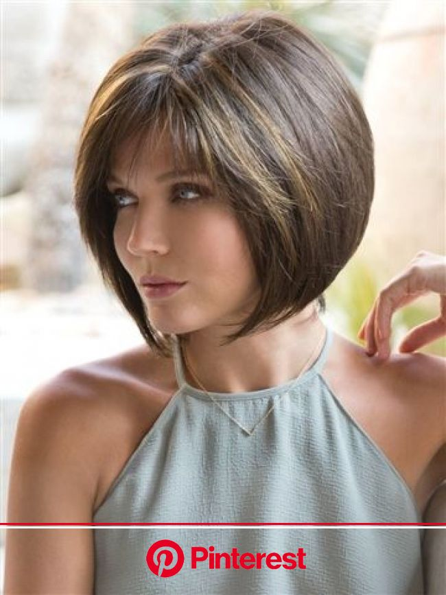Jolie Gradient, Synthetic Monofilament Wig by Noriko - WowWigs.com | Short layered bob hairstyles, Bob hairstyles, Thick hair styles