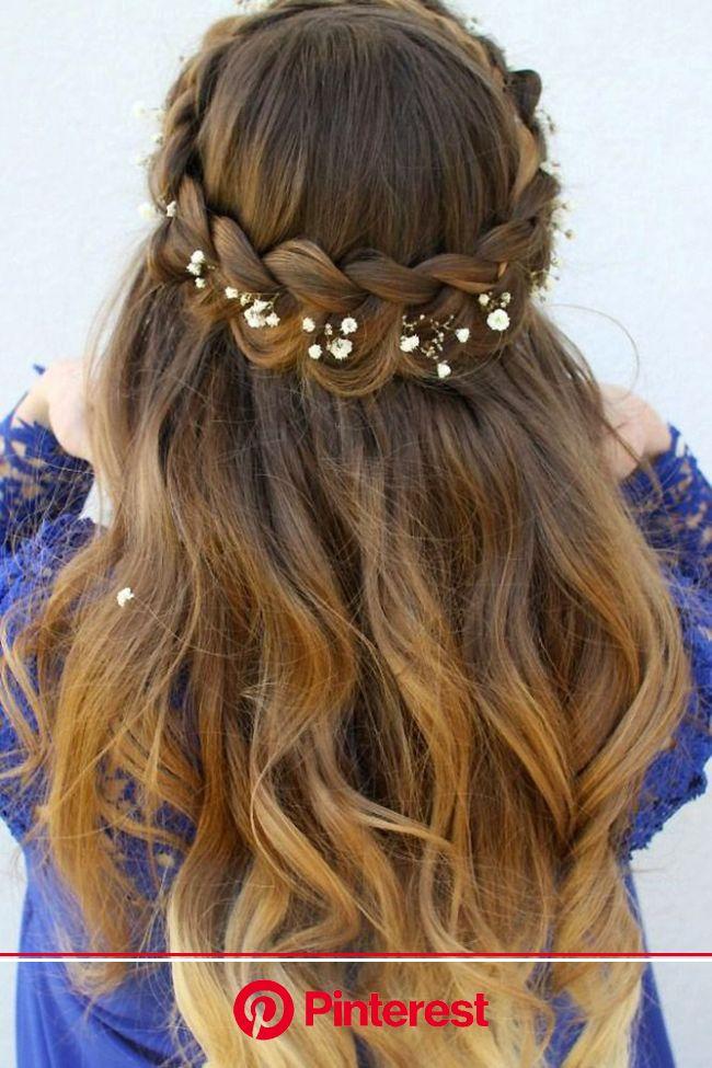 45 Perfect Half Up Half Down Wedding Hairstyles | Medium hair styles, Half up hair, Braided hairstyles