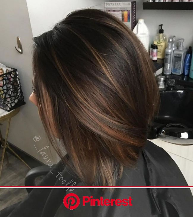 60 Hairstyles Featuring Dark Brown Hair with Highlights | Brown bob hair, Balayage straight hair, Brown hair with highlights