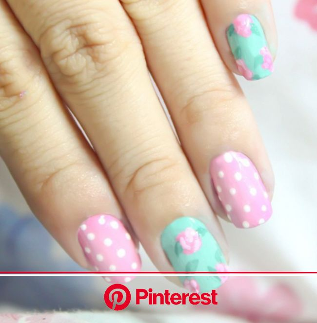 50 Spring Nail Art Ideas to Spruce Up Your Paws | Floral nails, Vintage nails, Spring nail art