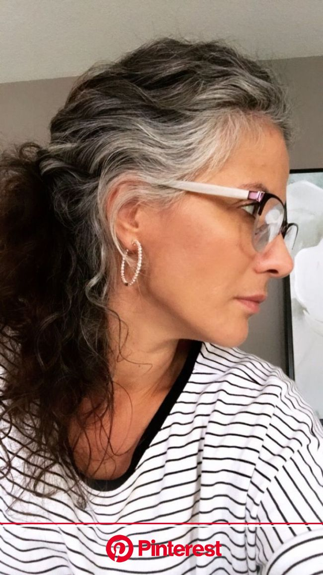 Gray hair growing out, Transition to gray hair, Gray hair highli in 2021   Transition to gray hair, Gray hair growing out, Long gray hair