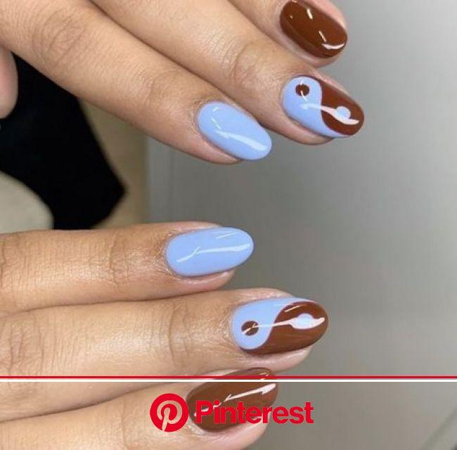 Yin Yang Nail Inspo ☯️ in 2021 | Nagels, Stijlvolle nagels, Gelnagels