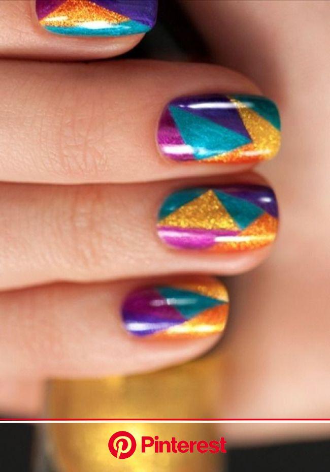 The Coolest Mosaic Nail Art Ideas | Geometric nail, Geometric nail art, Nail art