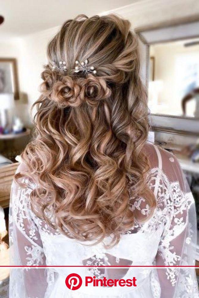 39 Best Pinterest Wedding Hairstyles Ideas | Hair styles, Loose curls hairstyles, Quince hairstyles