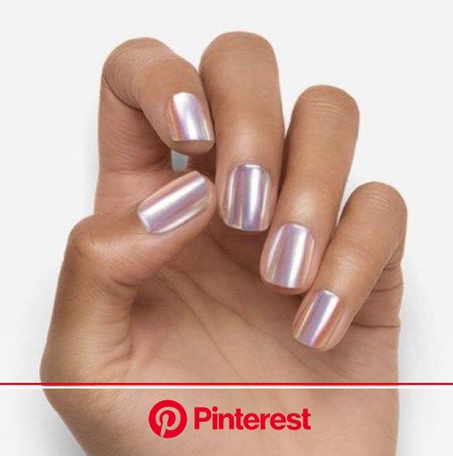 "New and Rare Dashing Diva Manicure ""Magic Press"" Nails Dashing Diva Nails | Metallic nails, Pink nails, Bridal nails"