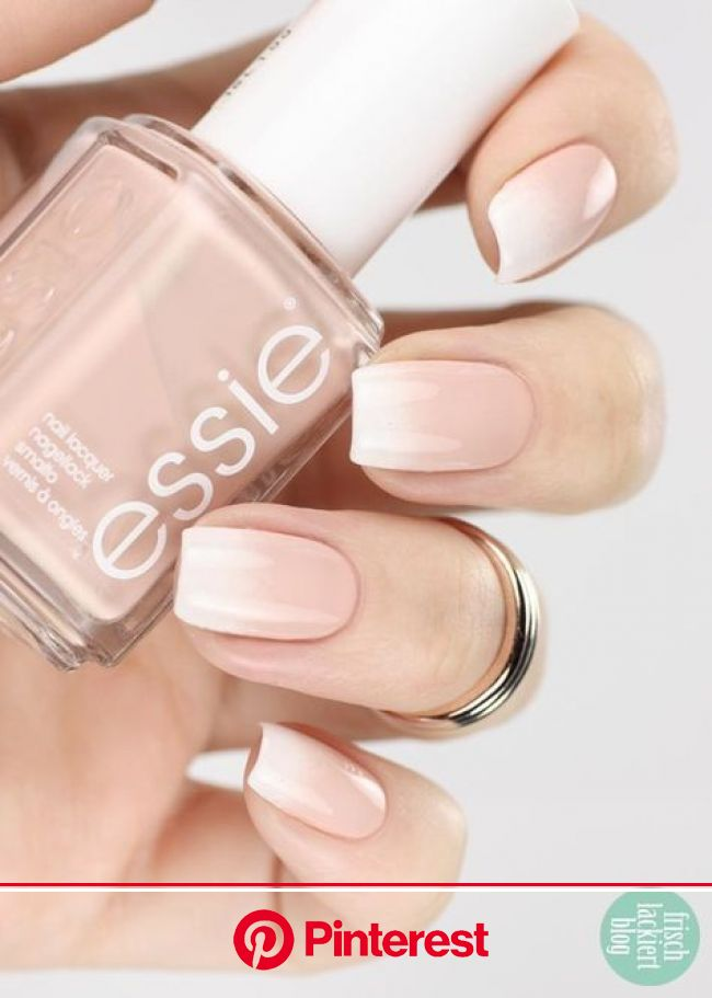 Baby boomer nail art with Essie -  Simple nails are also something fine :] Above all, a soft ombre french is … in 2020 | Nail art ombre, Ombre nails,