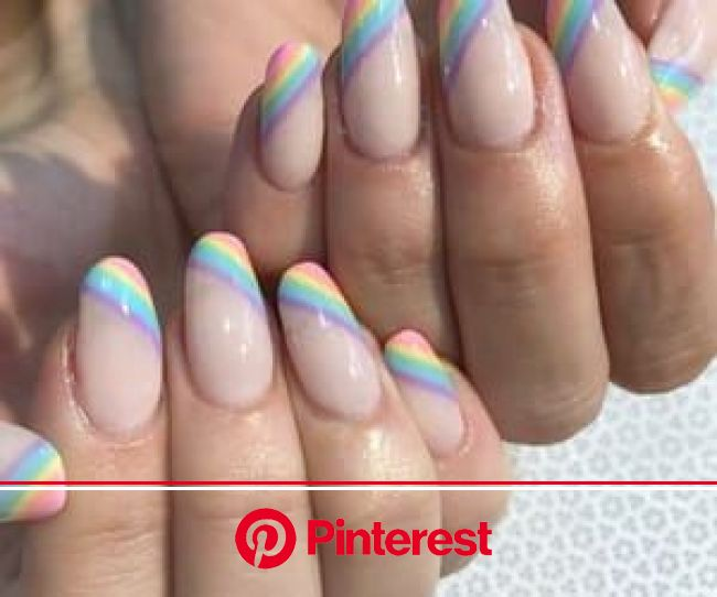 inspiration, nails, and photo image | Rainbow nails, Pretty nails, Nail designs