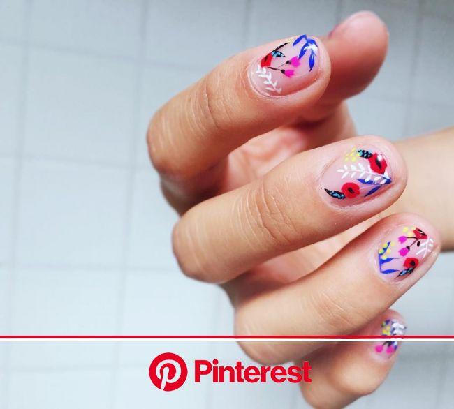(: pinterest: marlenelives :)     #summer #nails #manicure | Floral nails, Flower nails, Manicure