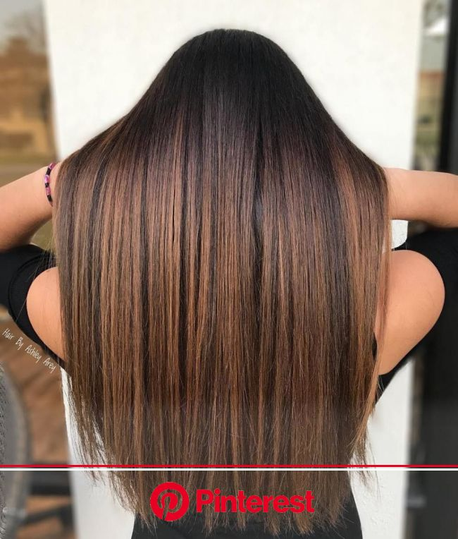 60 Looks with Caramel Highlights on Brown and Dark Brown Hair | Balayage straight hair, Brown straight hair, Hair color shades