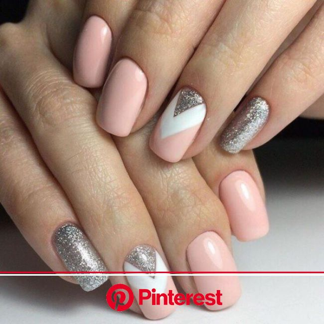 89+ Glitter Nail Art Designs for Shiny & Sparkly Nails  - Do you find your nails boring? Do you want to easil… | Stylish nails, Pink manicure, Sty
