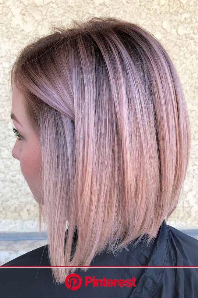 Rose Bright Bob Haircuts For Brave Girls #bobhaircut #stackedbob #haircuts #mediumhair #… | Pastel pink hair color, Haircuts for straight fine hair, H
