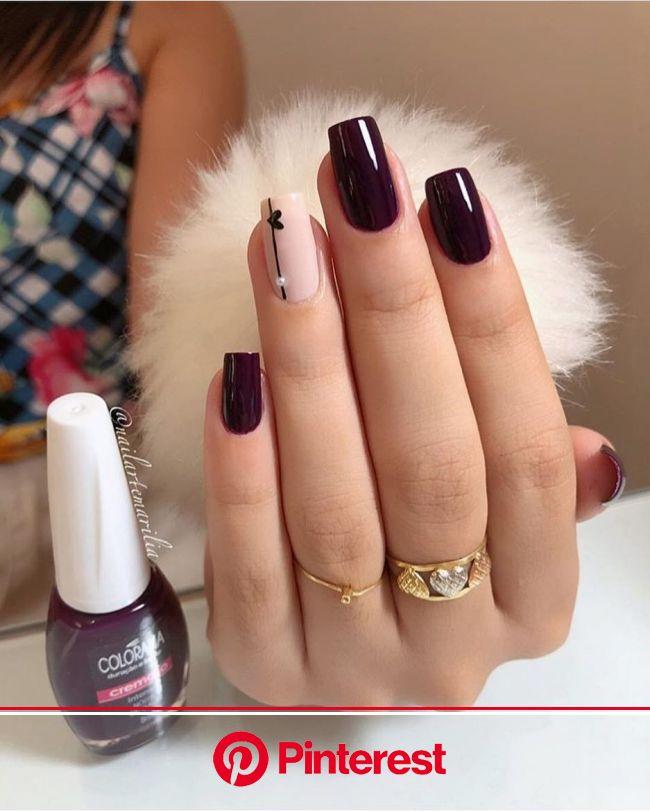 "@dicasdeunhas on Instagram: ""Fofinhas ???? Esmalte: Noite de Gala - Colorama ????: @nailartemarilia #DicasDeUnhasBr"" | Trendy nails, Stylish nails, Cu"