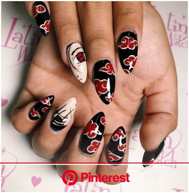 Anime Nails Acrylic Tokyo Ghoul in 2021 | Anime nails, Swag nails, Grunge nails
